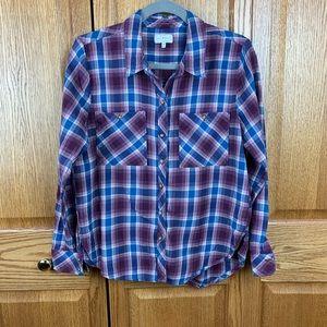 Lucky brand button up plaid shirt
